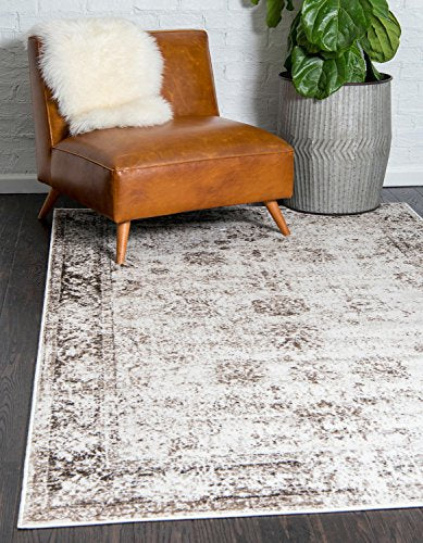 Unique Loom Rectangle, Beige Rugs - furniturify