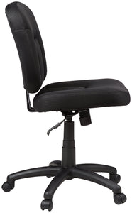 Low-Back Task Chair with Swivel Casters - Black - furniturify