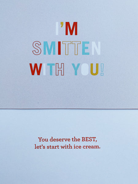Make them SMITTEN occasion-based card