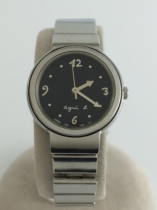 Black Color Stainless Steel Women's Watch [Pre-Owned]