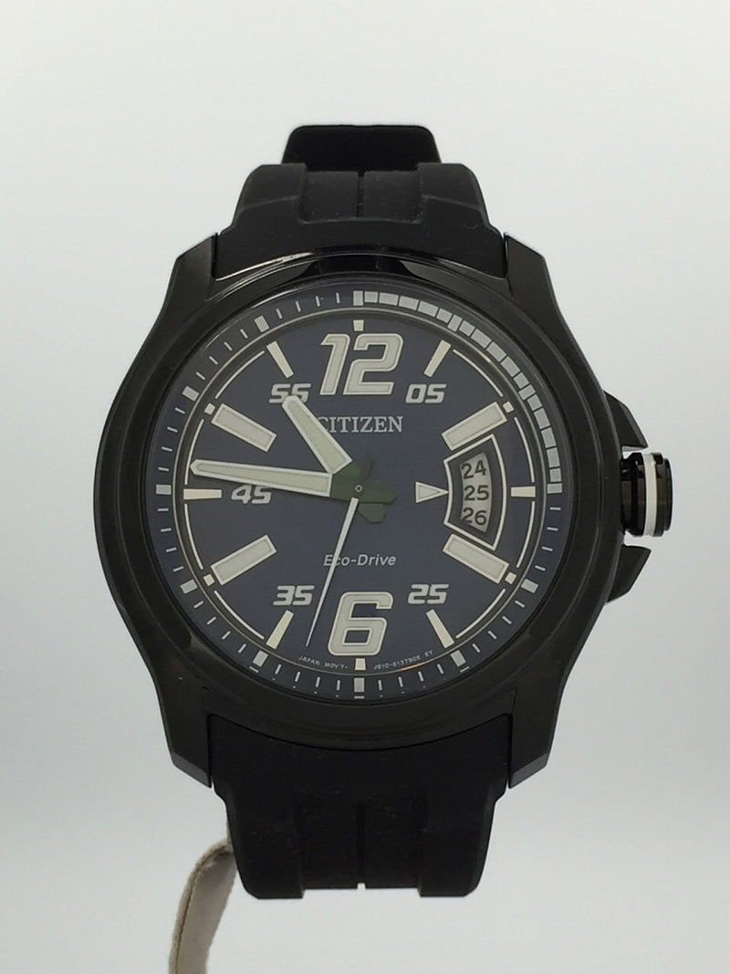Navy Color Rubber Men's Solar Watch [Pre-Owned]
