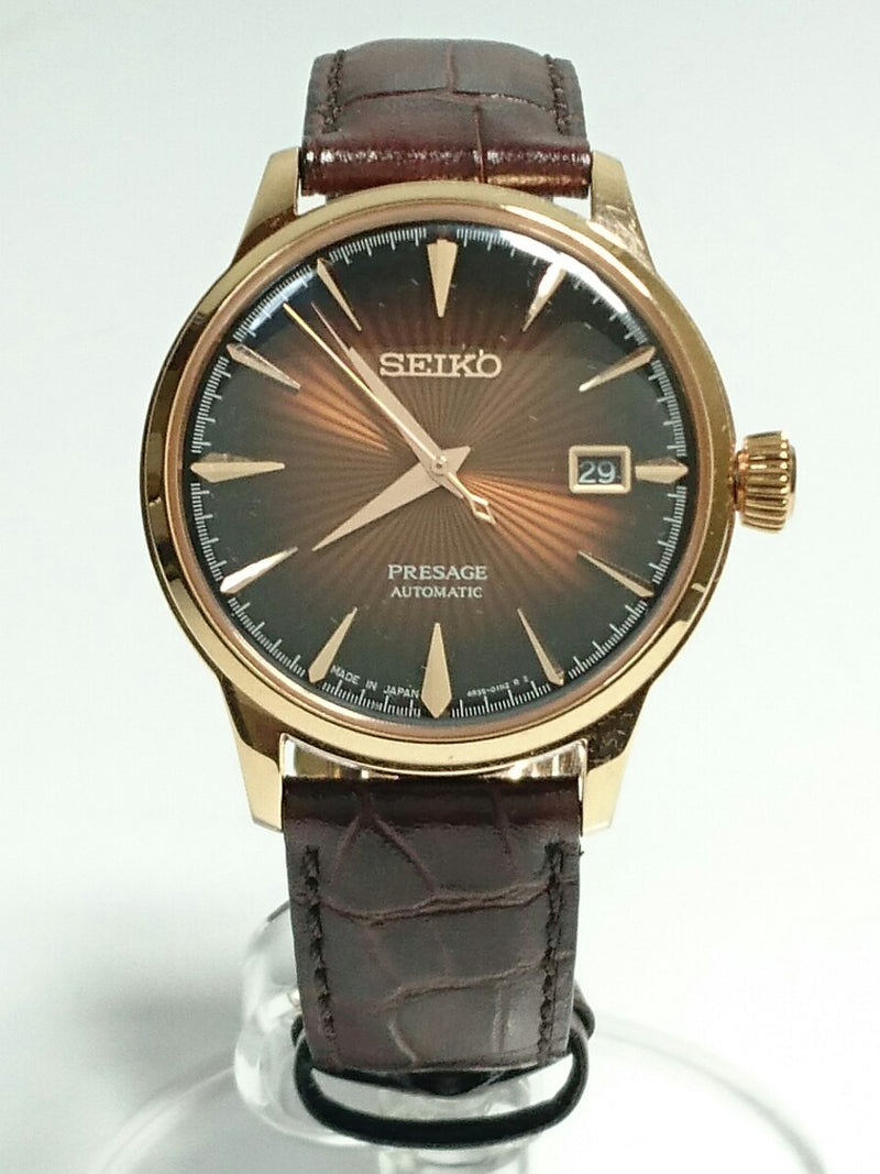Brown Color 4R35-01TO Men's Watch [Pre-Owned]