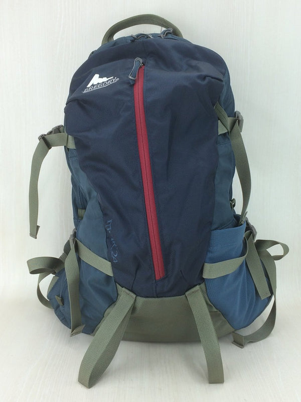 Navy Color Nylon Backpack [pre-owned]