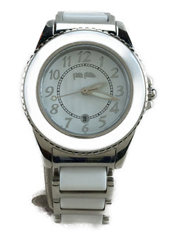 White Color Stainless Steel Women's Analog Watch [Pre-Owned]