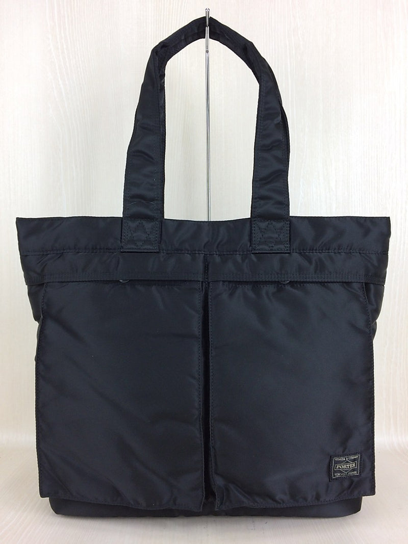 Black Color Nylon Tote Bag [Pre-Owned]