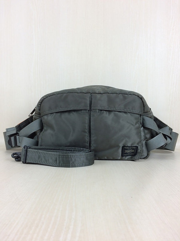Khaki Color Nylon Waist Bag [Pre-Owned]