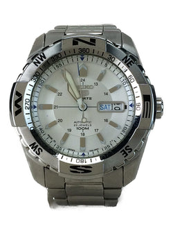 Silver Color 7S36-04MO Stainless Steel Men's Watch [Pre-Owned]