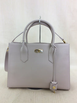 Pink Color Leather Handbag [Pre-Owned]