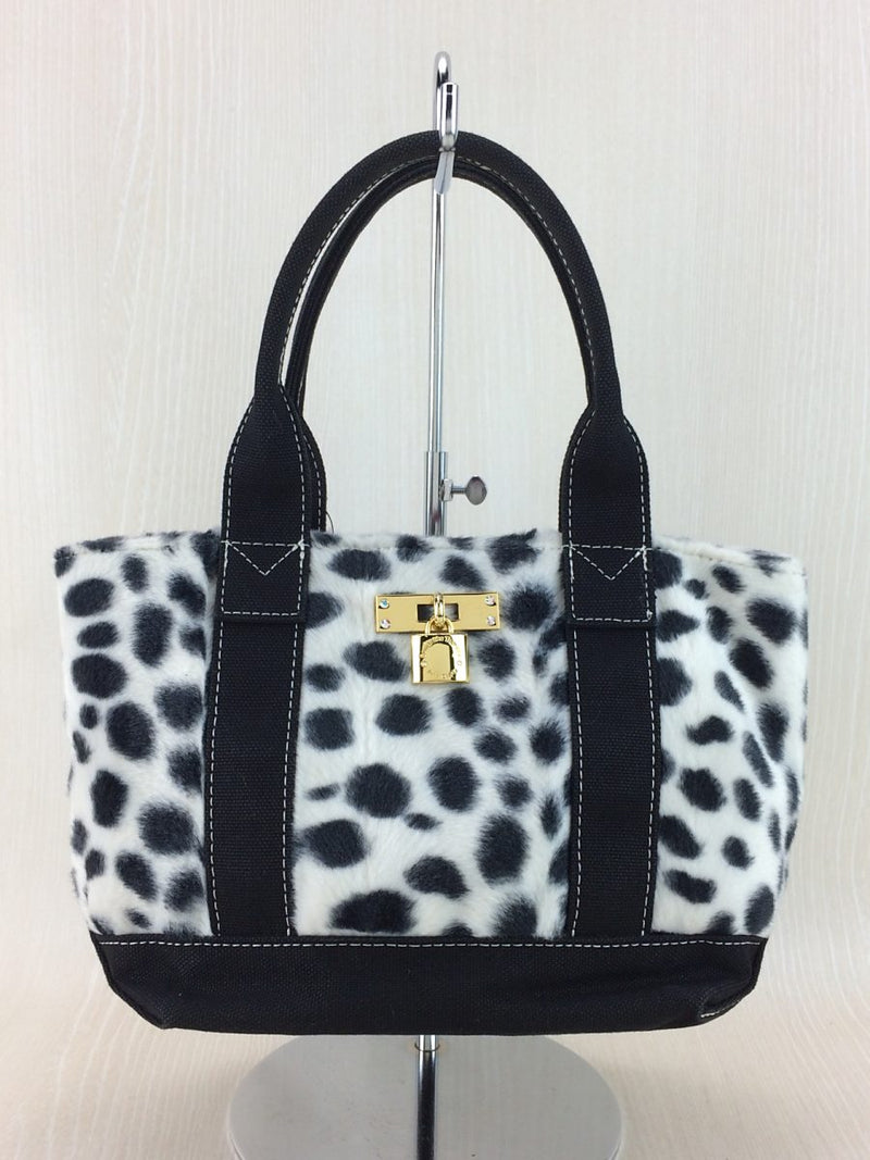 Black and White Animal Pattern Handbag [Pre-Owned]