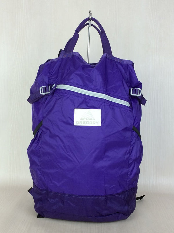 Purple Color Nylon Backpack [pre-owned]