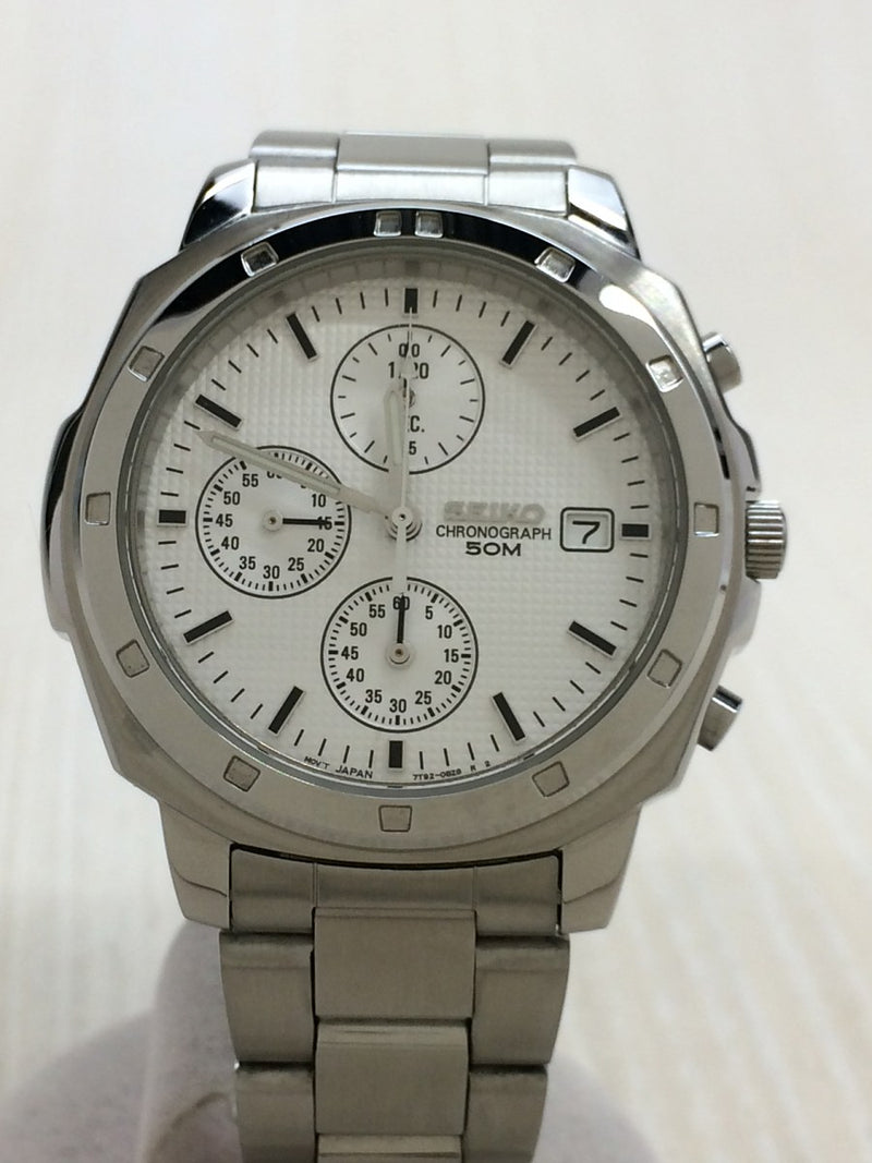 White Color Stainless Steel Men's Watch [Pre-Owned]