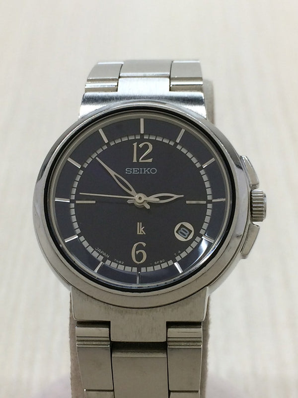 Black Color 7N82-6E00 Stainless Steel Women's Watch [Pre-Owned]