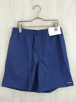 Navy Color Polyester Men's Shorts [Pre-Owned]