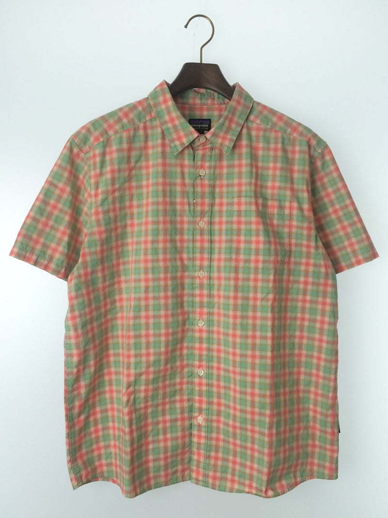 Pink Color Cotton Men's Short Sleeve Shirt [Pre-Owned]