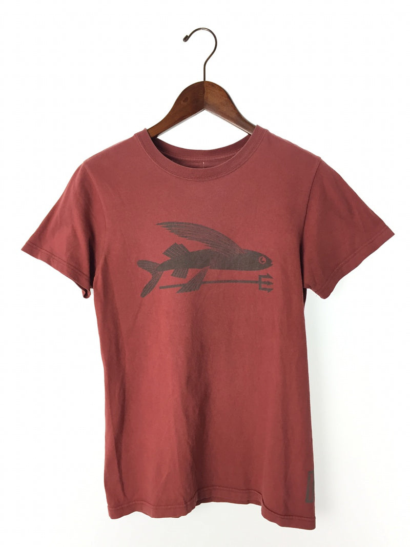 Red Color Cotton Men's T-shirt [Pre-Owned]