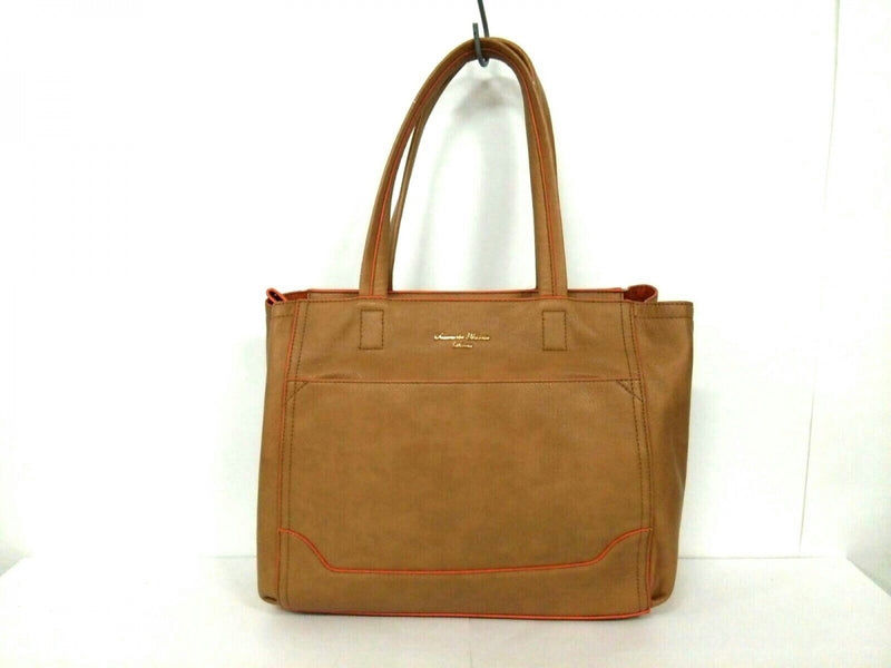 orange synthetic shoulder bag [pre-owned]