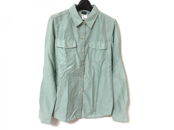 Light Green color Long Sleeve Women's Shirt [pre-owned]