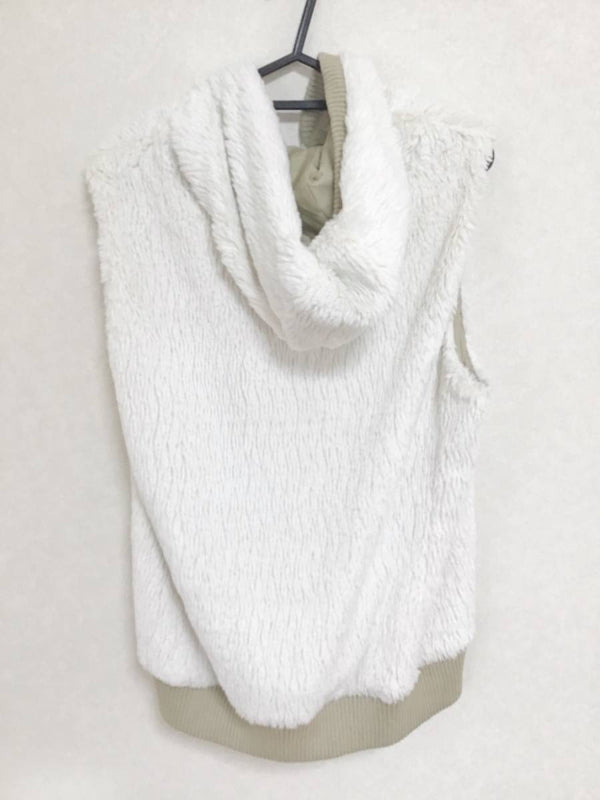 White Zip Up Women Casual Sweatshirt [pre-owned]