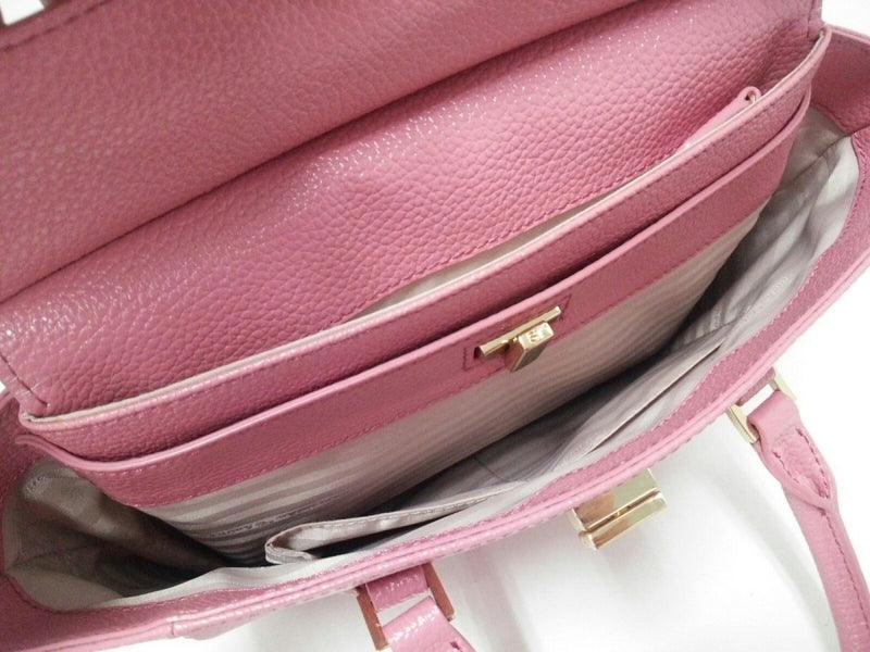 Pink 2way synthetic leather handbag [pre-owned]
