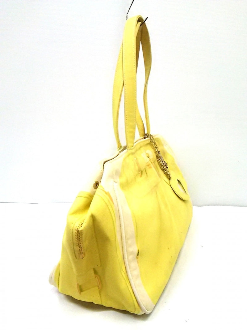 Ivory Canvas Yellow Tote Bag [pre-owned]
