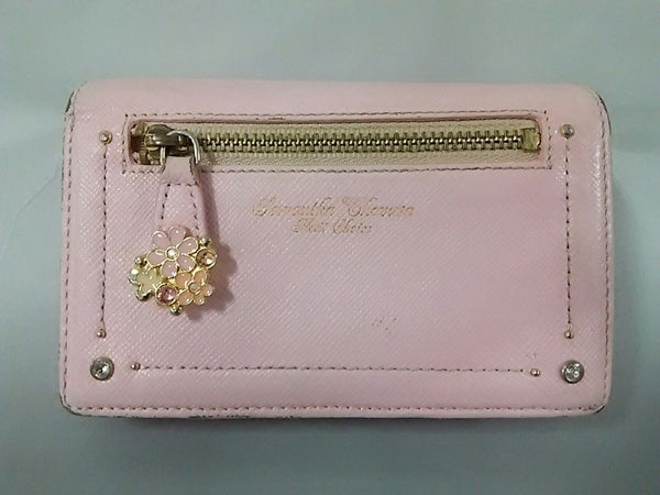 pink rhinestone two-fold wallet [pre-owned]