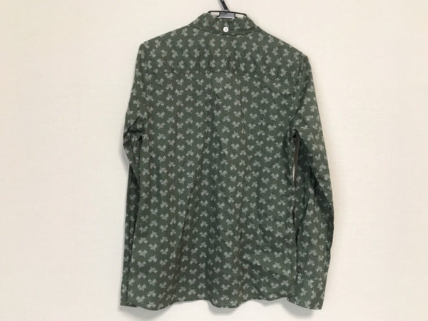 Dark Green color Long Sleeve Women's Beauty Shirt [pre-owned]