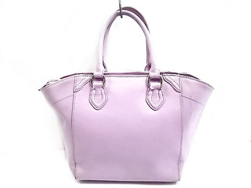 Purple Leather Handbag [pre-owned]