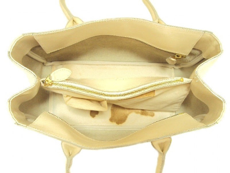 Ivory Leather Tote Bag [Pre-Owned]