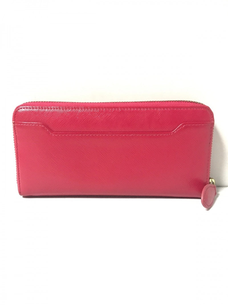 Long pink round zipper enamel wallet [Pre-Owned]