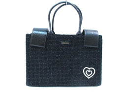 black tweed tote bag [pre-owned]