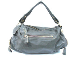 Dark Green Strap Detachable Leather Handbag [pre-owned]