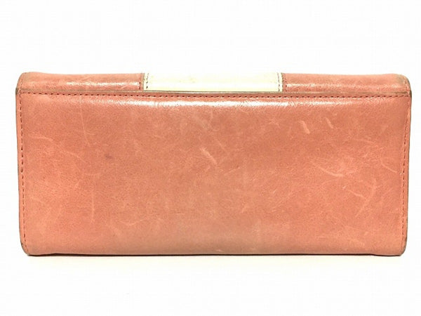 Beige Long Wallet [pre-owned]
