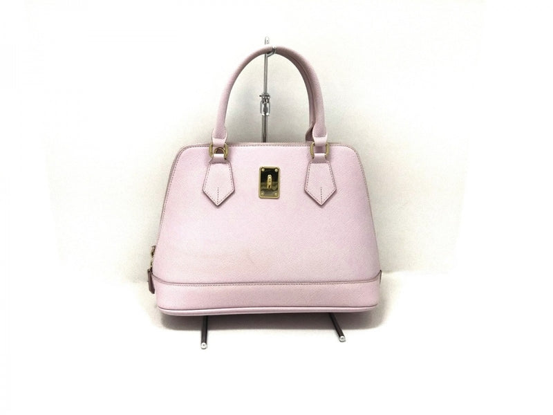Pink synthetic leather handbag [pre-owned]