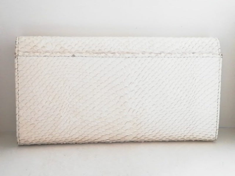 ivory long wallet [pre-owned]