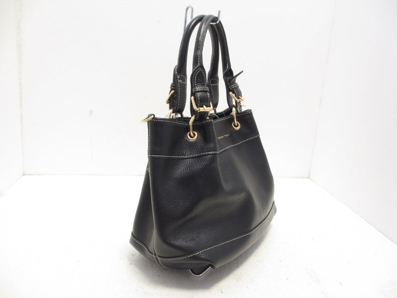 Black Leather Tote Bag [pre-owned]