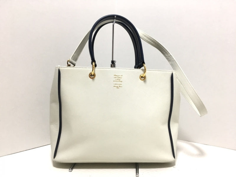 White Synthetic Tote Bag [pre-owned]