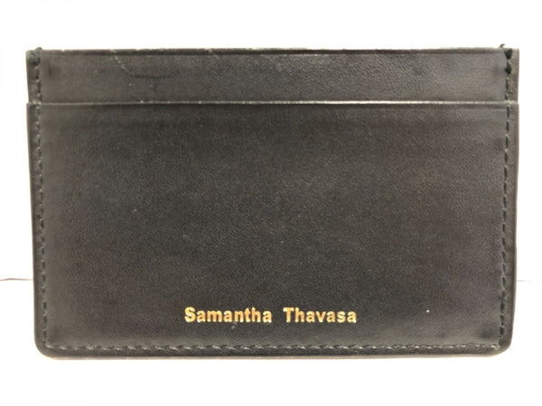 Pass Case Black Synthetic Leather Wallet [pre-owned]