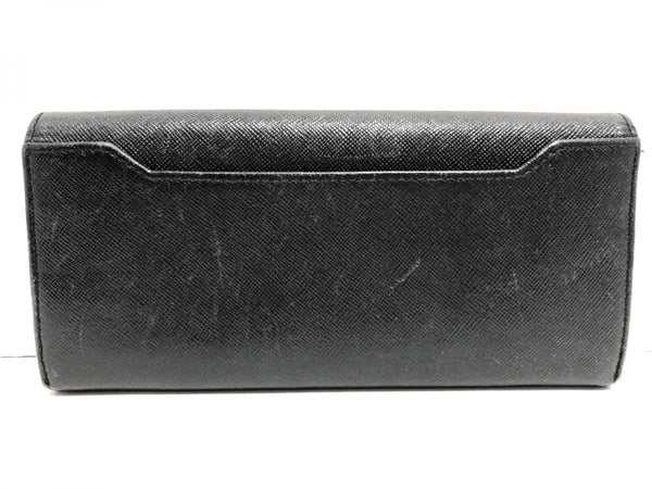 black synthetic leather wallet [PRE-OWNED]