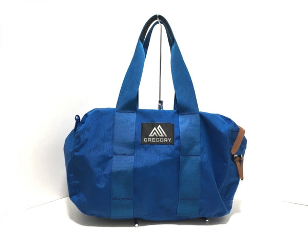 S Blue Nylon Shoulder Bag [pre-owned]