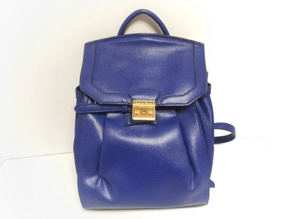 rucksack blue leather bag [pre-owned]