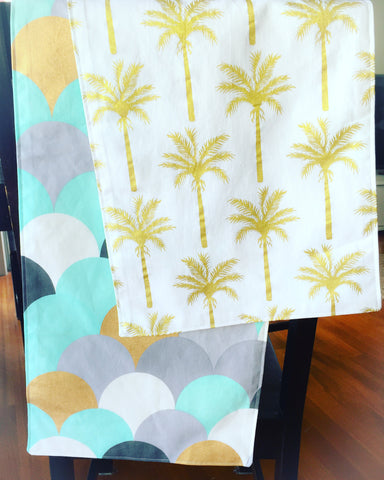 Table Runner 180cm - Palm Trees & Scales FREE POSTAGE*
