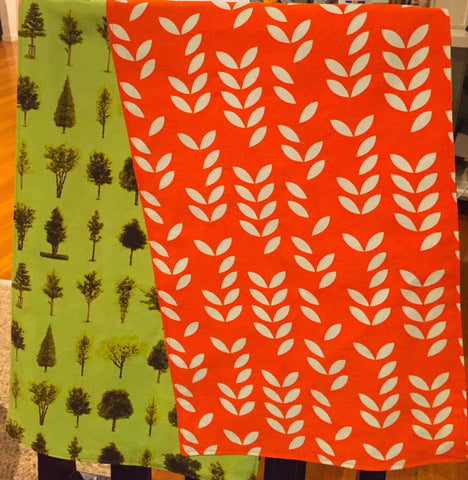 Table Runner 180cm - Lime Trees & Orange Leaves FREE POSTAGE*