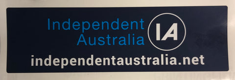 Independent Australia bumper sticker