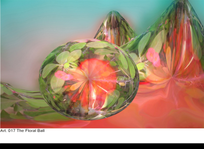 The floral ball - Original Artwork by Bob Rafto