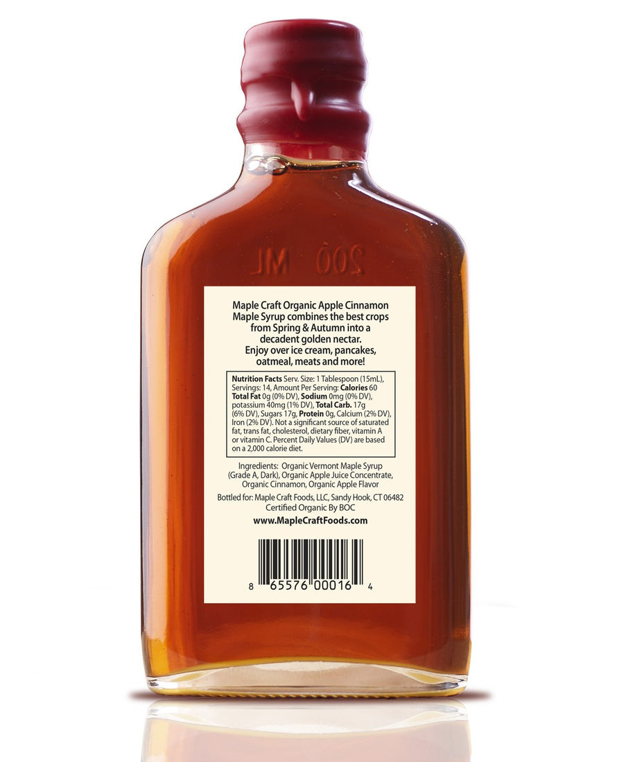 Organic Apple Cinnamon Maple Craft Syrup