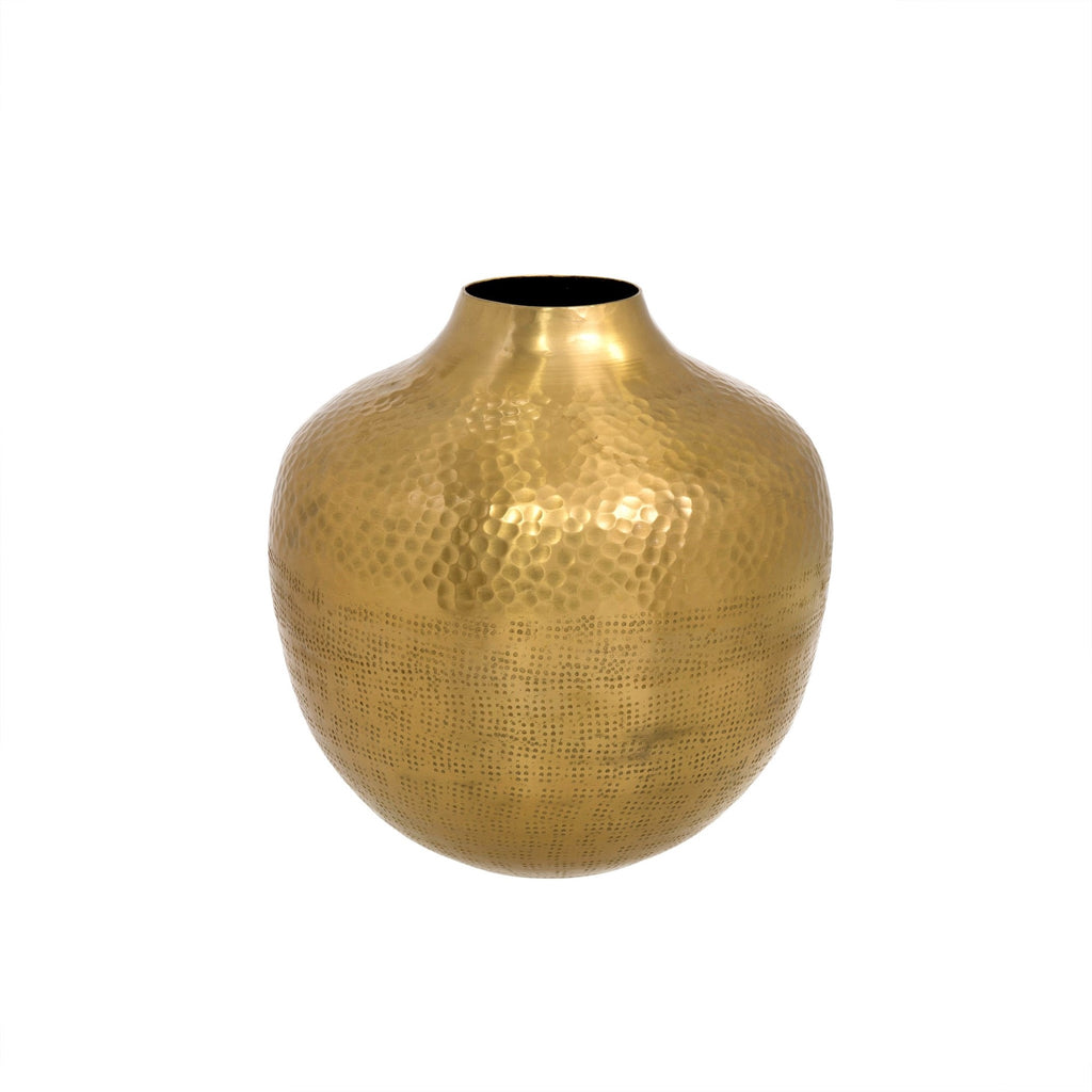 Gold Hammered Helios Vase