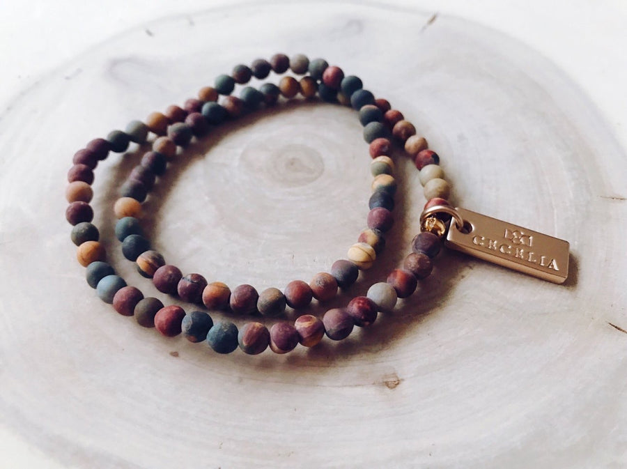 Jasper Stress Double Wrap Bracelet