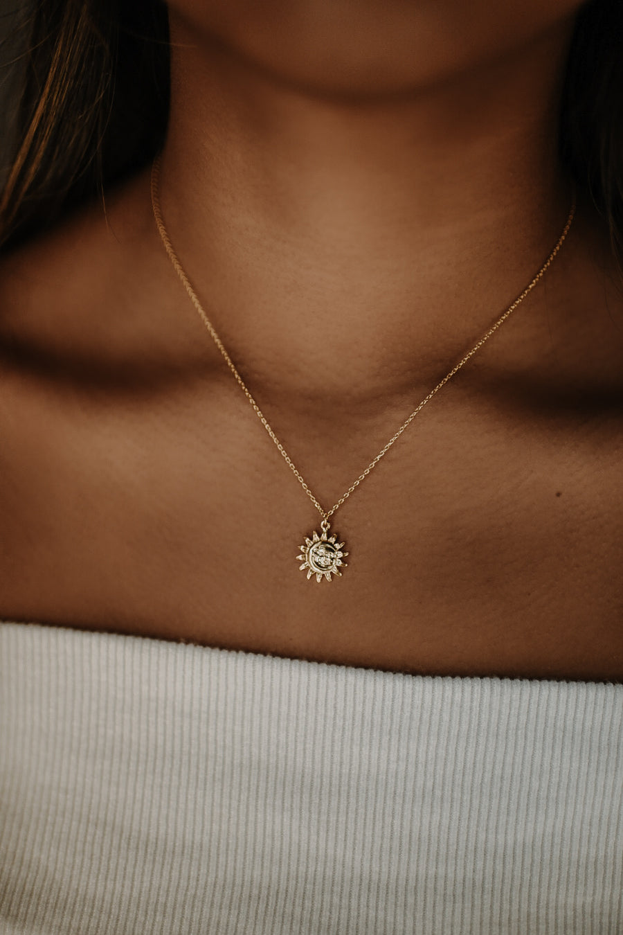 18K Solstice Coin Charm Necklace