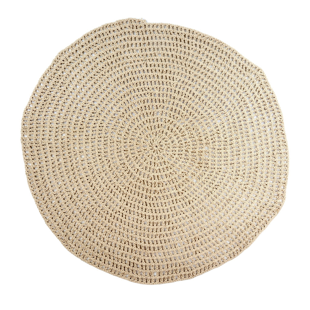 Cotton Crochet Roundie Rug