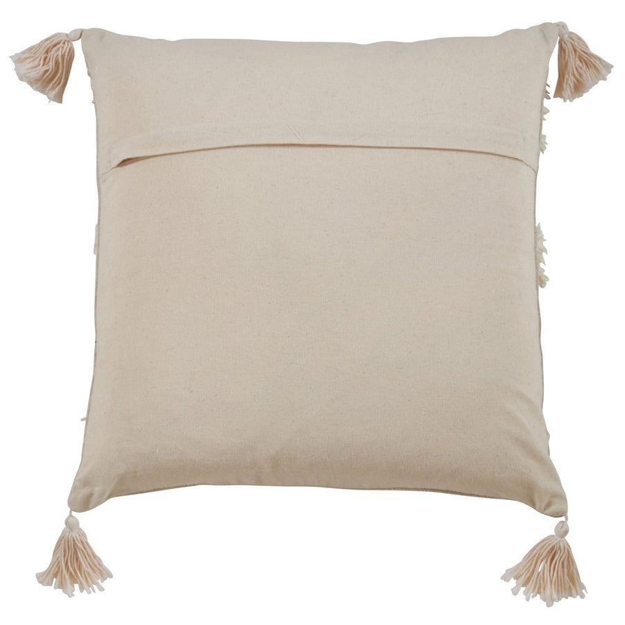 Tri-Line Frayed Pillow Down Filled - Ivory